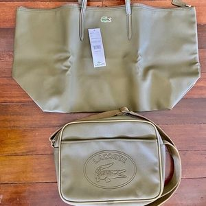 2 Hunter Green LACOSTE Travel and Crossbody Bags